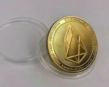 24k Gold Plated EOS Crypto currency. 1.2 oz. 40mm Collectible Novelty Coin