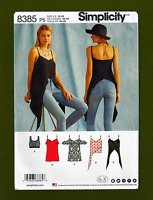 Camisole Style Tops & Bralette Sewing Pattern (Sizes 12-20) Simplicity 8385