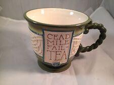 Grasslands Road CELTIC Coffee Mug Cup Cead Mile Fail - Tea Green