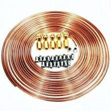 Bremsrohr 10m 4,75mm Kupfer + 20x Verschraubung +10x Verbinder für Bremsleitung