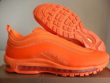 NIKE AIR MAX 97 HYPERFUSE TOTAL ORANGE-GREY SZ 10 SUPER RARE!! [518160-880]