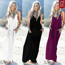 Hippie Boho Womens Summer Evening Cocktail Party Beach Maxi Dress Kaftan 10-24