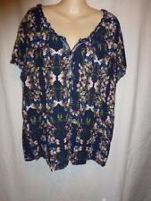 Rockmans Short Sleeve Floral Plus Size Tops for Women