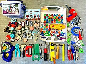 Kids Construction Toys Bundle Magnetic Robots,Design & Drill, Build & Play,Tools