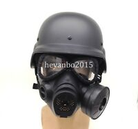 MILITAR TACTICAL AIRSOFT SWAT M88 HELMET / ARGAME PROTECTION DUMMY M04 GAS MASK