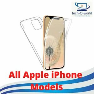 360 Front & Back Clear Transparent Plain Both Side Case For Apple iPhone 8