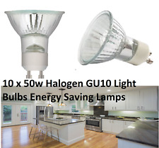 10 x  50w BRANDED Halogen GU10 Light Bulbs Dimmable Energy Saving Lamps NEW