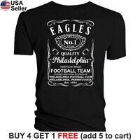 Philadelphia Eagles T-Shirt JD Whiskey Graphic PHI Men Cotton Whisky Philly