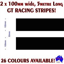 2x100mm(50mm gap) GT racing stripes performance car quality vinyl decal stickers