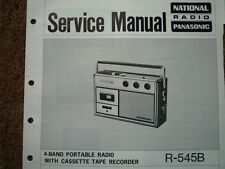 NATIONAL PANASONIC R-545B Radio Cassette Service manual wiring parts diagram