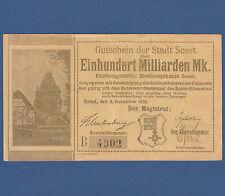 Soest 100 miliardi di Mark 3.11.1923 III/VF