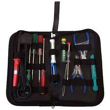 11 Pieza Electrónica eléctrica Kit de herramientas en práctico cremallera Funda Soldar Reparaciones