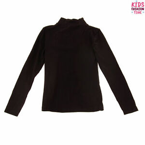 GAS Top Size 16Y Black Long Sleeve Funnel Neck