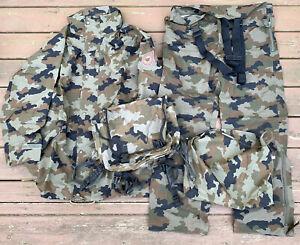 Slovenian Military Issue Goretex Rain Suit Jacket Pants Size 54 w/ Carrier Bag