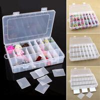 Boîte De Rangement En Plastique Pour Bijoux Avec 24 Compartiments