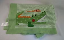 Koala Baby Green White Crocodile Baby Blanket Stripes Acrylic 2009 Babies R Us