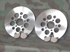 "Sportster, Shovelhead Stainless Steel Dual Disc 10"" Brake Rotors & Pads."