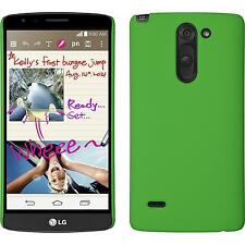 Hardcase for LG G3 Stylus rubberized green Cover + protective foils