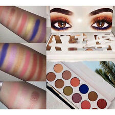 12 Colors Set Palette Eyeshadow Shimmer Glitter Eye Shadow Makeup Cosmetic Brush