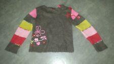 CATIMINI 10 ans pull laine et alpaga très coloré, ravissant! TRES BON ETAT