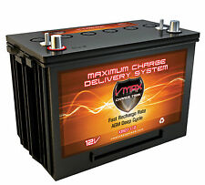 QTY 2 VMAX XTR27 110AH 12V AGM Battery GRP 27 Maint Free 12 Volt Deep Cycle 24V