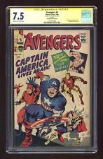 Avengers (1963 1st Series) Golden Record Reprint 4COMIC CGC 7.5 SS Stan Lee