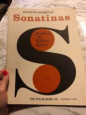 Accent on Analytical Sonatinas for Piano by William Gillock Willis Sheet Music