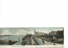 CPA Carte Postale double Belgique-Anvers- Panorama du Musée Het Steen début 1900