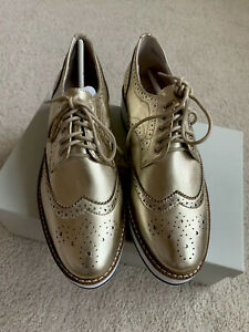 Shellys London Size 38.5 Gold Loafer Women Shoes