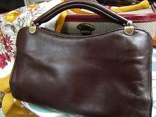Vintage Brown Leather Jane Shilton Grab Handbag