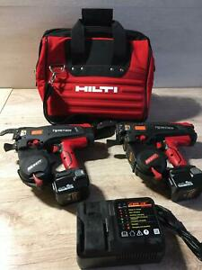 Two pieces of MAX RB441T TwinTier Rebar Tie Wire Machine and Hilti bag As Gift