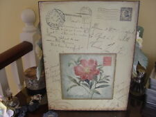 DECORATIVE  VINTAGE SINGLE  PINK ROSE COLLAGE TIN SIGN