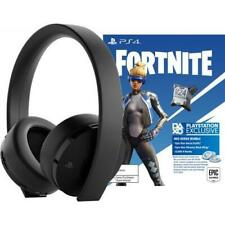 Sony Gold Wireless Stereo Headset Black + Fortnite Neo Versa Bundle - Compatible