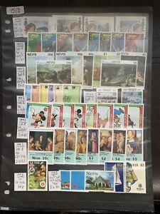 Nevis Between 1992-1994 (SG Between 655-851) 18x Sets All MNH (1512)