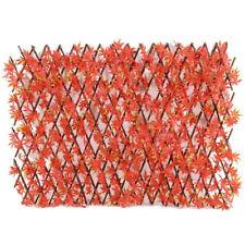 BISEN Red Maple Leaf 1x2 m Artificial Garden Fence Wall Screening Trellis Hedge