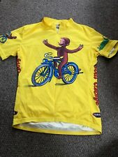 Primal CURIOUS GEORGE Cycling Jersey Yellow Mens Size Small