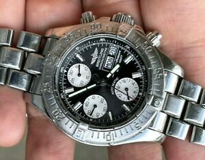 BREITLING Super Ocean 42mm Automatic Chronograph Day Date Diver Chronometer