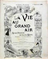 1898-1899 LA VIE AU GRAND AIR 42 N° AUTO MOTO SPORT FOOT VELO CANOT BOXE TENNIS