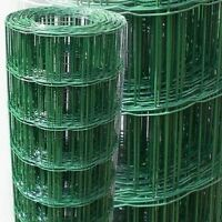 PVC Coated Dog Mesh Wire Green Fencing 120cm 4ft Garden Galvanised Fence Net