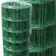 PVC Coated Dog Mesh Wire Green Fencing 180cm 6ft Garden Galvanised Fence Net