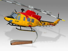 Bell 412 UH-1 Griffon Rescue Sauvetage 2 Handcrafted Display Helicopter Model