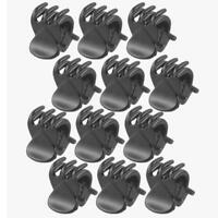 12x Girl Small Black Plastic Hair Clips Claws Clamps Hairpin Hair Accessory UKP