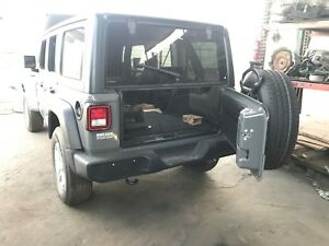 2018 JEEP WRANGLER JL REAR TAIL GATE WITH CARRIER ONLY OEM