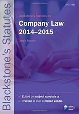 Blackstone's Statutes on Company Law 2014-2015 (Blackstone's Statute Series),De