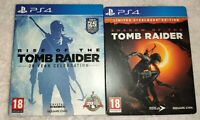 TOMB RAIDER STEELBOOK  & ARTBOOK PLAYSTATION 4 (NO GAME INCLUDED) PS4 RARE