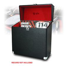 "LP 40 x 12"" Vinyl Record Box Storage Flight DJ Case Media Black Leather Effect"