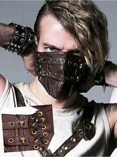 Masque gothique punk steampunk cuir laçage crânes skull mask Punkrave homme C