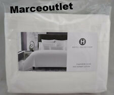 Hotel Collection 680 Thread Count Supima Cotton Solid KING Duvet & Shams White