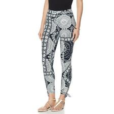 LYSSE Women's Pull-on Tie Cotton Crop Leggings Pant Navy/White X-Small Size HSN