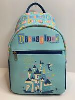 Disneyland 65th Anniversary Funko Mini Backpack Castle Tinkerbell Mickey Mouse.